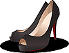 Vector clipart: Fashion woman shoes