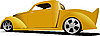 Vector clipart: Yellow car pick-up