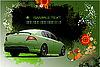 Vector clipart: Grunge hi-tech poster with car