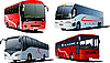 Vector clipart: Four city buses