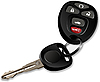 Vector clipart: Car key with remote control