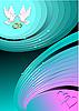 Vector clipart: love background. colored fine