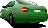 Vector clipart: Green sedan
