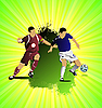 Vector clipart: Grunge Soccer poster