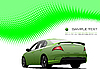 Vector clipart: green poster with car