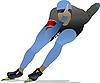 Векторный клипарт: Конькобежный спорт