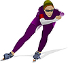 Vector clipart: Speed skating