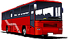 Vector clipart: Red city bus
