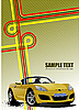 Cover for brochure with junction and yellow cabriolet Vec