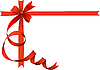 Vector clipart: Festive bow on with place for text. .