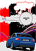 Vector clipart: Cover for brochure with car.