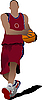 Vector clipart: Basketball player