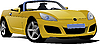 yellow cabriolet