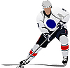 Vector clipart: Ice hockey player