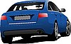 Vector clipart: Car sedan on the road.