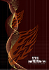 Vector clipart: Fire flame wave background