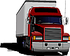Vector clipart: Blue abstract background with truck