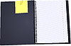 Vector clipart: Black Notebook open with clipped yellow none