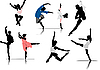 Vector clipart: ballet dancers