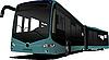 Vector clipart: City double bus.