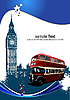 Cover for brochure with London. | Stock Vector Graphics
