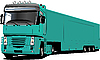 Vector clipart: Colored truck. Helps