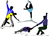 Vector clipart: Figure skating