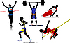 Athletic sport silhouettes.