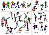 Vector clipart: Soccer, football, basketball, volleyball