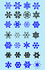 Vector clipart: Set of snowflakes as winter design element.