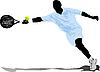 Vector clipart: Tennis player.