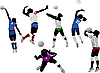 Vector clipart: Set of volleyball women