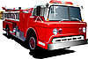 Vector clipart: Fire engine ladder