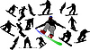 Snowboarde silhouettes