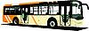 Vector clipart: Yellow city bus.