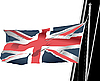 stylish waving United Kingdom flag