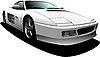 Vector clipart: Grey cars sedan on the road.