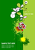Vector clipart: Cover for brochure with grunge floral background