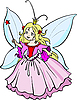 Vector clipart: Beautiful little princess with magic wand.