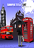 Vector clipart: London background.