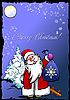 Vector clipart: Greeting card for Christmas and happy New Year