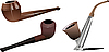Vector clipart: Set of smoking pipes.