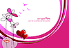 Vector clipart: Valentine`s day background with hearts and lips