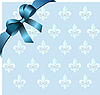 Vector clipart: Page corner with blue ribbon