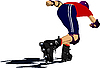 Vector clipart: Roller skater silhouette