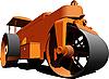 Vector clipart: Road asphalt roller