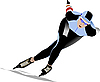 Vector clipart: Speed skating.