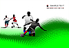 Vector clipart: Abstract background with Soccer players.