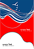 Vector clipart: Red blue abstract background.