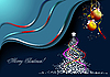 Vector clipart: Christmas - New Year midnight background.